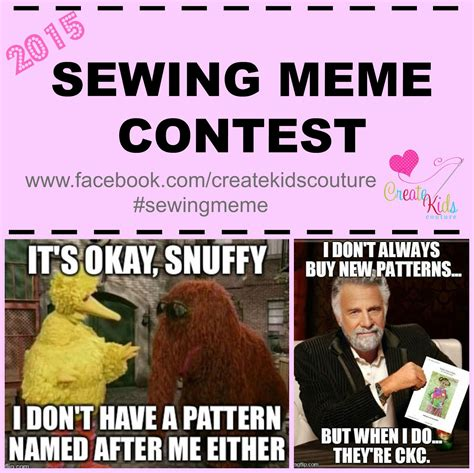 How To Make A Picture Meme - create kids couture sewing meme contest 2015
