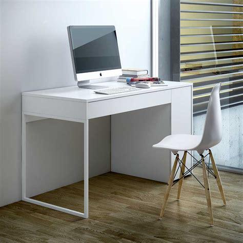 Bureau Design Prado Blanc Achat Vente Bureau Sur Bureau Moderne Pas Cher
