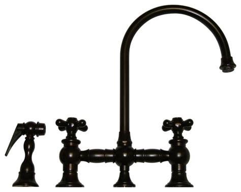 outstanding rustic kitchen faucet luxury brass kitchen faucet vintage iii bridge faucet long gooseneck swivel spout w