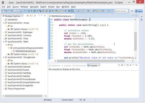 Math Floor Java by Java Math Abs Method Exle