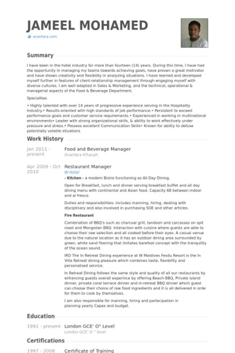 Resume Samples Journalism by Food And Beverage Manager Resume Samples Visualcv Resume Samples Database