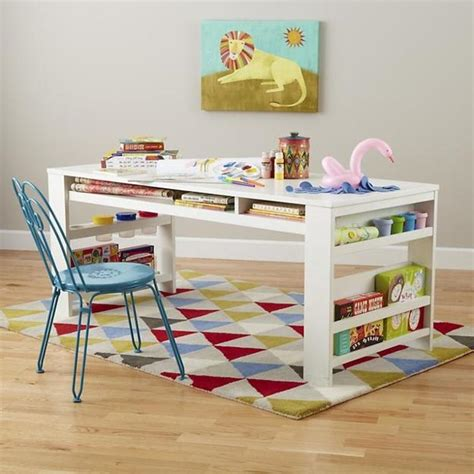 Children Room Furniture School Age Room Design With Student Desks And Bright