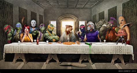 image tmnt the last supper jpg tmntpedia