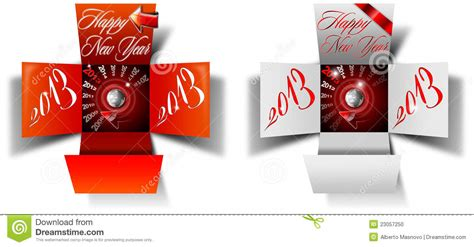 new year box 2013 happy new year box stock photo image 23057250