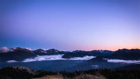 sunset  blue mountains qhd nature wallpaper wallpaper