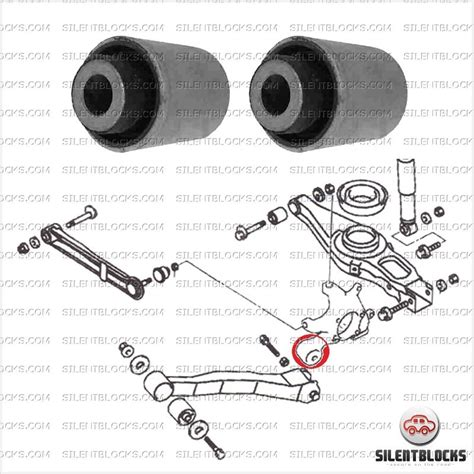 rear trailing arm bushes pajero iii silentblocks