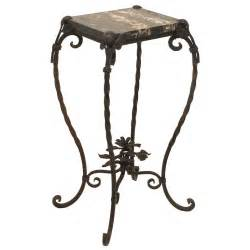 Wrought Iron Table Ls Wrought Iron And Marble Table Plant Stand At 1stdibs