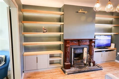 What To Put On Living Room Shelves by Before After Living Room Alcove Shelving Diy Newb Ie