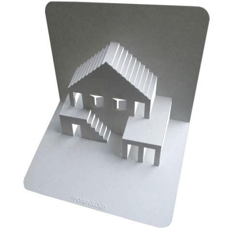 объемные открытки своими руками Pop Up архитектура Pop Up House Card Template