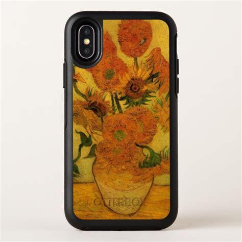 van gogh vase  sunflowers fine art flowers otterbox symmetry iphone  case case
