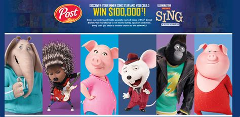 Movie Sweepstakes - enter the sing 169 movie sweepstakes for a chance to win a 100 000 grand prize