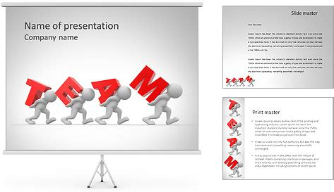 hard teamwork powerpoint template backgrounds id