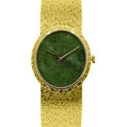 piaget 18k yellow gold jade