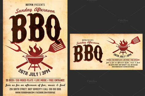 bbq flyer template barbecue bbq flyer template flyer templates on creative