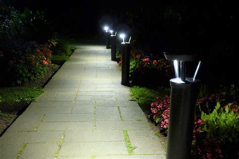hton bay solar lights solar powered bollard garden lights garden ftempo