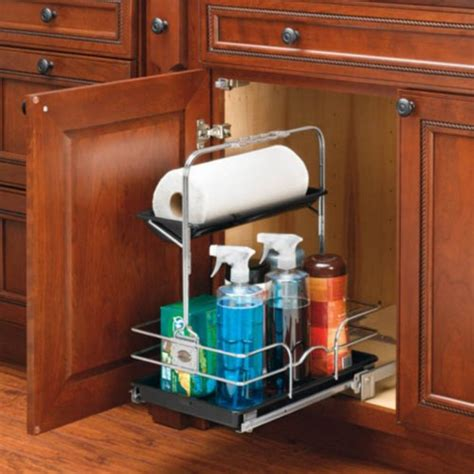 rev a shelf sink pull out chrome caddy rev a shelf 544 10c 1 sink pull out removable