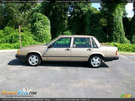 volvo 740 sedan 1990 volvo 740 turbo sedan sand beige metallic beige