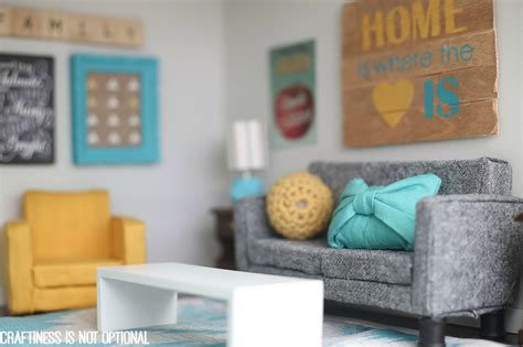 diy dollhouse miniature living room furniture set tutorial