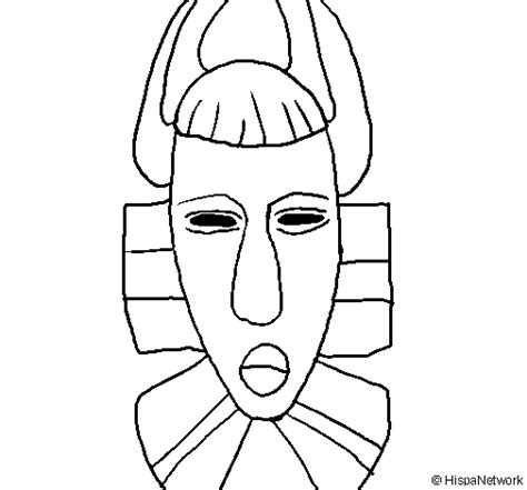 african mask coloring page coloringcrew com