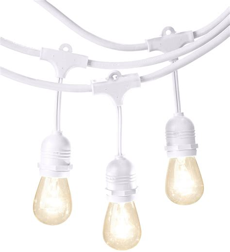 amazon patio lights string amazonbasics weatherproof outdoor patio string lights s14