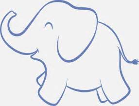 Baby Elephant Template by Elephant Clipart Outline Trunk Up Clipartsgram