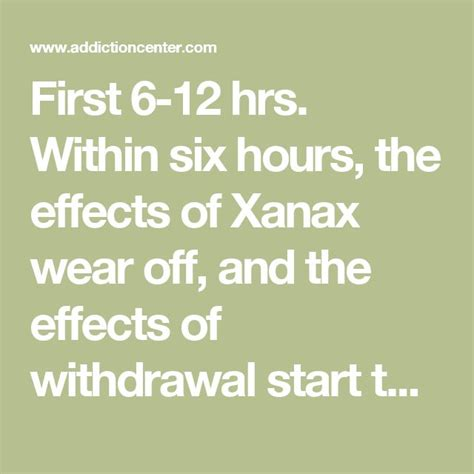 Detox From Can Be Threatening by The 25 Best Xanax Withdrawal Symptoms Ideas On