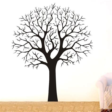 tree stickers for walls large tree branch wall decor removable vinyl decal home
