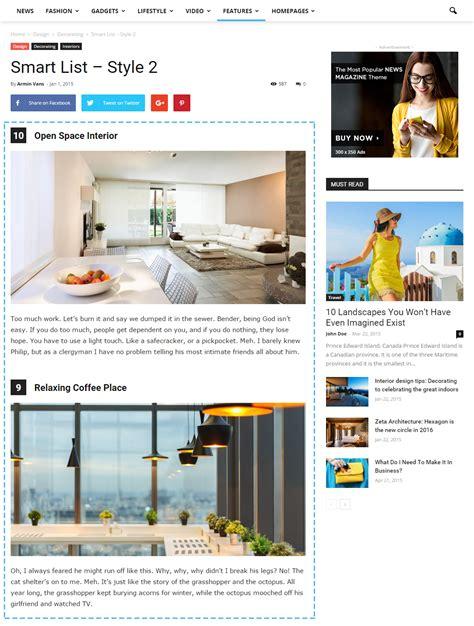 smartlist newspaper theme newspaper theme create elegant smart lists
