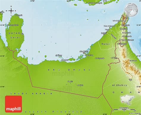 geographical map of uae physical map of united arab emirates
