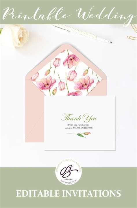 thank you card editable template 34 best wedding invitation templates images on