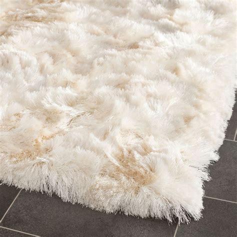 Silken Ivory Shag Rug silken ivory shag rug 2 x 3