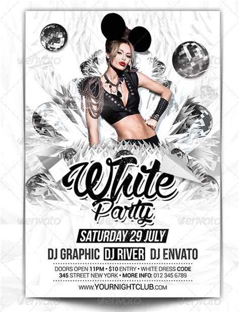 template flyer white party 37 club flyer templates free psd rtf pdf format