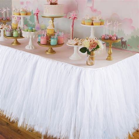 Aliexpress.com : Buy Wedding Party Tulle Tutu Table Skirt