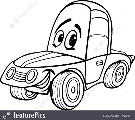 coloring pages of funny cars auto transport car cartoon for coloring book stock