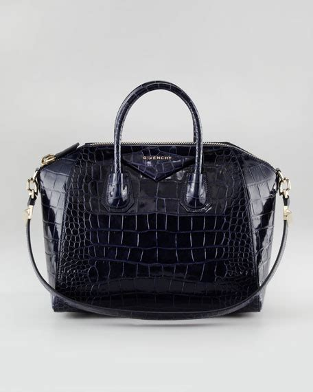 givenchy antigona crocodile embossed duffel bag medium