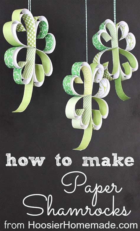 How To Make Paper Shamrocks - st s day crafts for tauni co