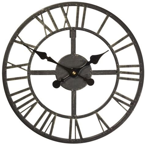briers wimborne wrought iron effect outdoor clock b6127