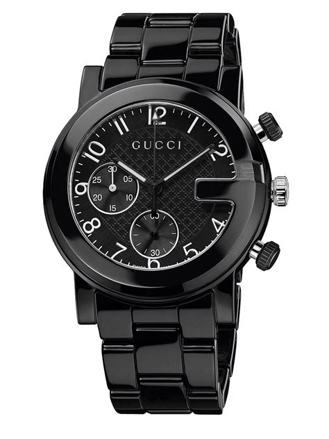 Guc Ci Ceramic Black gucci g chrono collection ceramic stainless steel