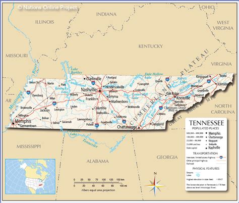tn usa map modern map of tennessee and bordering states emaps world