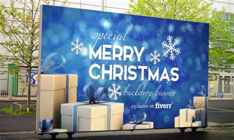 how to design backdrop banner design christmas backdrop banner for your event stage by