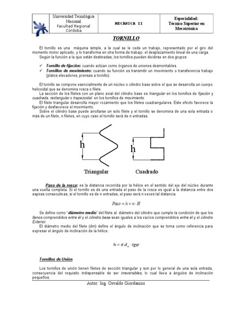 C-Elem. de Unión-Tornillo - Chaveta   Screw   Motion (Physics)