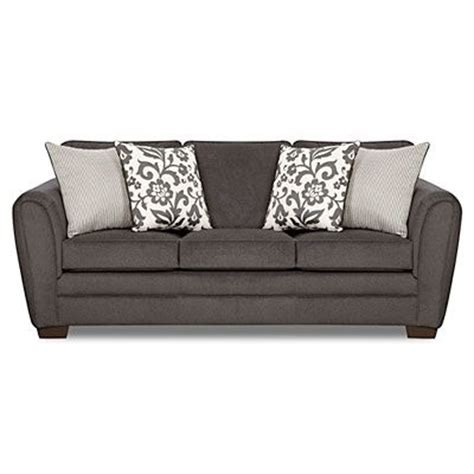 simmons freeport slate memory foam sofa simmons 174 flannel charcoal sofa with pillows at big lots