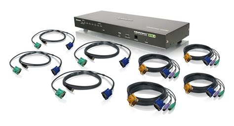 8 kvm switch usb iogear gcs1808kit 8 usb ps 2 combo vga kvm switch