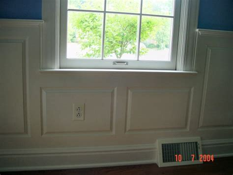 Wainscoting Around Windows wainscoting