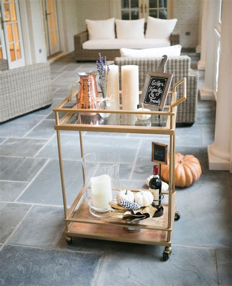 how to decorate a bar decorate your bar cart for fall fashionable hostess