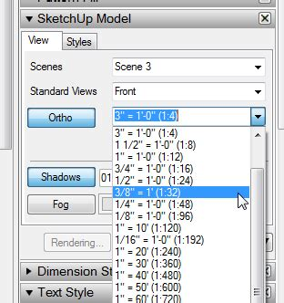 sketchup layout custom scale setting scale ratio at 3 8 quot 1 0 quot in layout layout