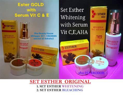 Serum Esther Gold set esther gold original whitening sm bleaching ab endun health shoppe
