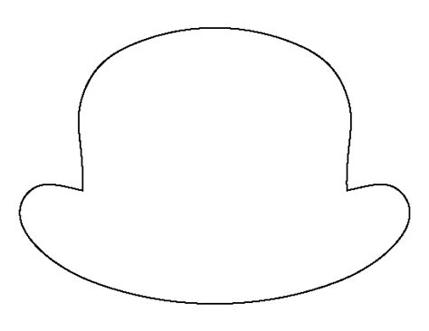 clown hat template bowler hat pattern use the printable outline for crafts