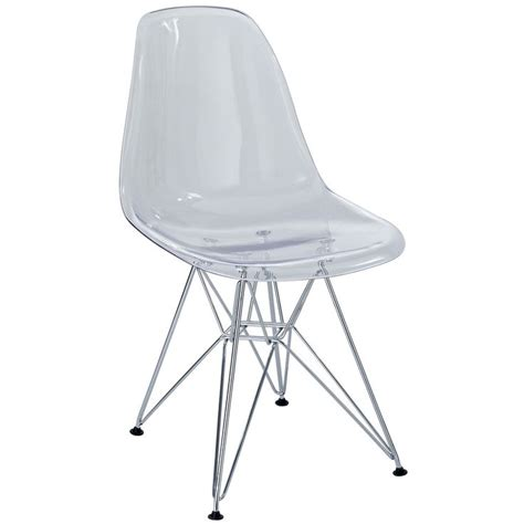 Clear Chair by Plastic Side Chair In Clear With Wire Base