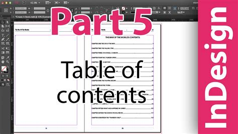 look the part books indesign table of contents adobe indesign cc